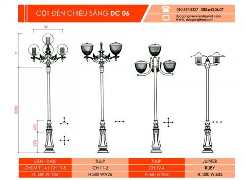 cột đèn dc 06