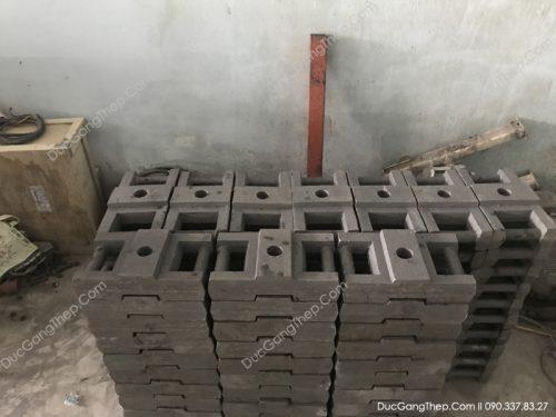 c tải trọng đối trọng thang máy bằng gang theo bản vẽ